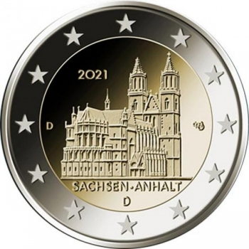 Germany 2€ commemorative coin 2021 - Sachsen-Anhalt - Magdeburg Cathedral