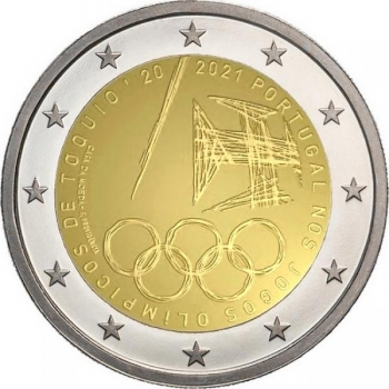 Portugal 2€ commemorative coin 2021 - Portugal's participation in the 2020 Tokyo Olympics