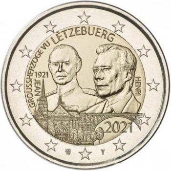 Luksemburgi  2021 a 2€ juubelimünt  - suurhertsog Jeani 100. sünniaastapäev