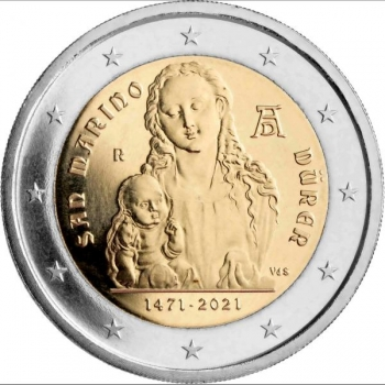 San Marino 2€ erikoisraha 2021 - Albrecht Dürer