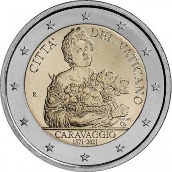 2 € юбилейная монета 2021  г.Ватикан  - 450 лет со дня рождения Караваджо