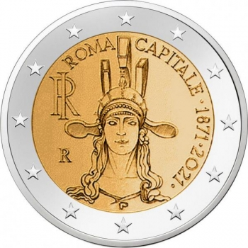 Itaalia 2021 a 2€ juubelimünt - Rooma. Itaalia pealinn