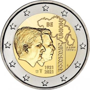 Belgia 2021.a. 2€ juubelimünt - Belgia - Luksemburgi majandusliit