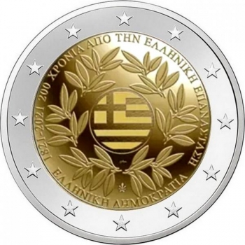 Greece 2€ commemorative coin 2021 -  200 YEARS SINCE THE GREEK REVOLUTION