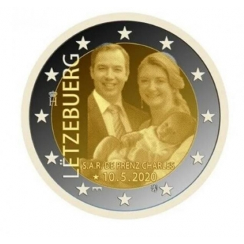 Luxembourg 2€ commemorative coin 2020 - The birth of Prince Charles (hologram)