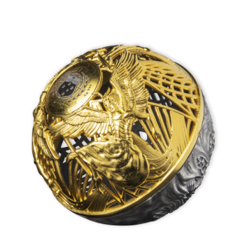 Heaven and Hell Samoa $5 2021 Spherical 2oz Silver Gold-Plated Coin