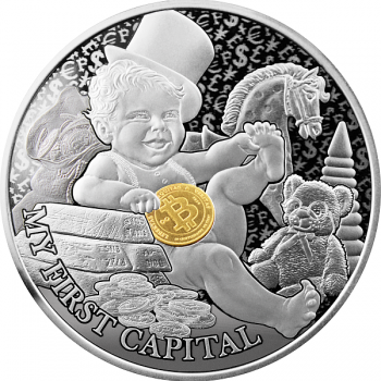 My First Capital,  My First Treasures. Niue 1$ 2021 1/2 oz 99,9% silver coin