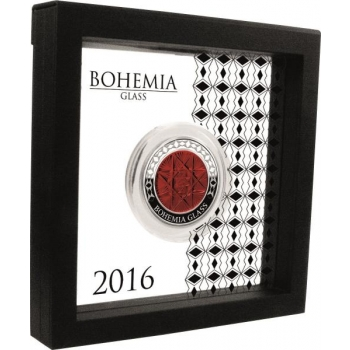 Bohemia Glass 99,9% Silver coin proof 2016, 62,2 g