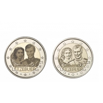 Luxembourg 2€ commemorative coin 2021 -The 40th anniversary of the marriage of Grand Duke Henri