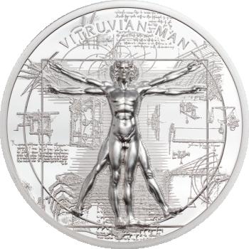 X-Ray – Vitruvian Man - Cook Islands 5$ 2021 99,9% silver coin. 1 oz