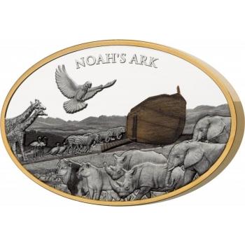 Ноев ковчег- Соломоновы Острова 10$ 2021.г. 99.9% серебряная монета. 3 унции