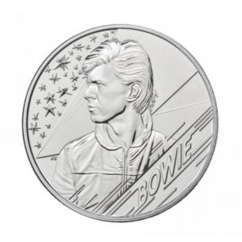 «Легенды музыки» - Дэвид Боуи. Великобритания 5 £ 2020 г. Mедно-никилиевая монета.