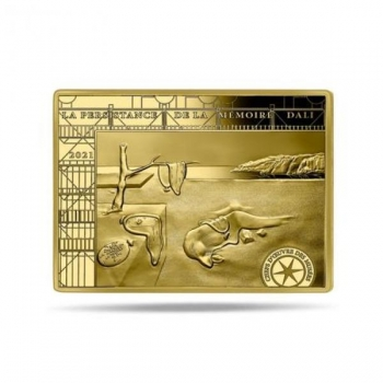 Masterpieces of the Museum - Salvador Dali - France -50€ 2021 99,9% Gold coin 7.78 g