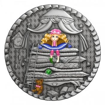 The Princess and the Pea. Niue 1$ 2021 99,9% silver coin 1 oz