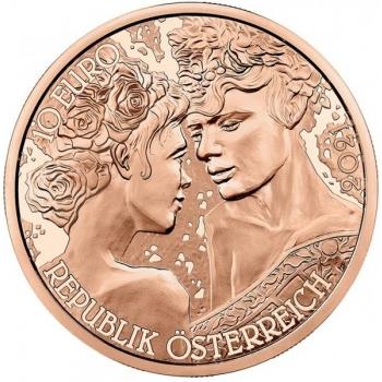 Roos. Armastus ja Kirg - Austria 10 € 2021.a. vaskmünt, 15 g