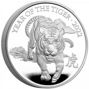 Tiigri aasta 2022 -  Suurbritannia 5 £ vask-nikkel münt, 28.28 g