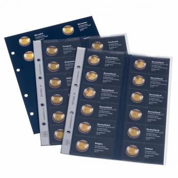 Lisalehed Optima 2€ juubelimüntide ühisteema albumie - EL Lipu 30. aastapäev