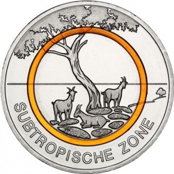 Subtropical Zone Germany 5€ 2018 commemorative coin