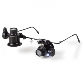 Binokel 20x -mikroskooppi LED-valolla