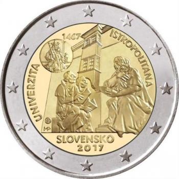 2 € юбилейная монета 2017 г. Словакия -  550-летие Истрополитанского университета