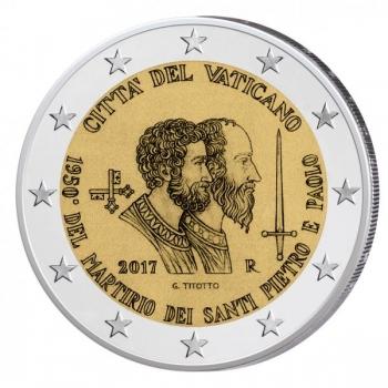 2 € юбилейная монета 2017  г.Ватикан  - 1950-летие мученической смерти святых Петра и Павла