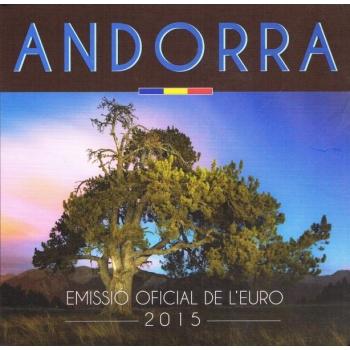Годовой набор Евро монет Андорры 2015 года - комплект