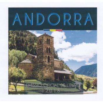 Годовой набор Евро монет Андорры 2018 года - комплект