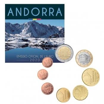 Годовой набор Евро монет Андорры 2020 года - комплект