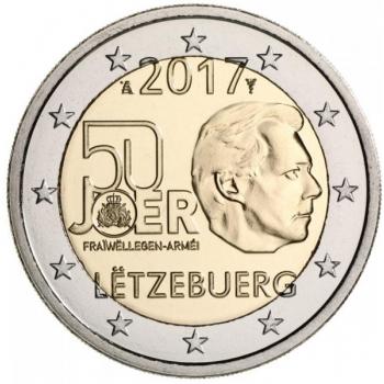 Luksemburgi 2017 a 2€ juubelimünt - Luksemburgi vabatahtliku ajateenistuse 50. aastapäev