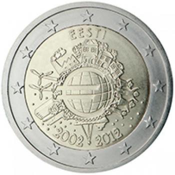 2 € юбилейная монета 2012 г. - Эстония10 лет наличному обращению евро