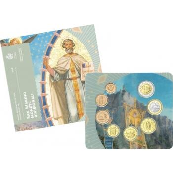 Годовой набор Евро монет  Сан - Марино 2018 года - комплект