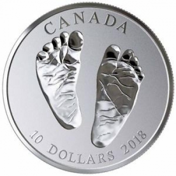 Tere tulemast maailma!  Kanada 10$ 2018.a. 99,99% hõbemünt, 15.87 g