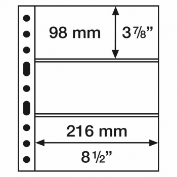 Grande 3 C Säilytyslehti (216 x 98 mm)