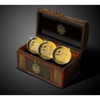 Barbadose piraadid - Barbadose 2018.a. 3 kullatud mündist komplekt