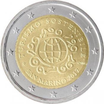San Marino 2017 2 eur juubelimünt -rahvusvaheline arengut edendava säästva turismi aasta