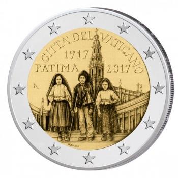 2 € юбилейная монета 2017  г.Ватикан  - 100-летию явления Богородицы в деревушке Фатима, в Португалии
