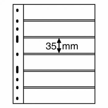 Лист OPTIMA для для почтовых марок 6х (35х180 мм)