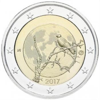 2 € юбилейная монета 2017 г. Финляндия - природа Финлянди