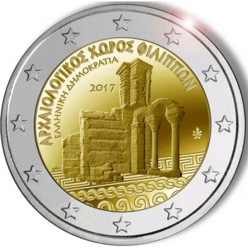 2 € юбилейная монета Греция   2017 г. -Археологический комплекс Филиппы