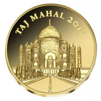 Taj Mahal - Norsunluurannikko 100 Fr. 2015.v. 99,9% kultaraha 0,5 g
