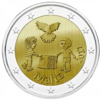 Malta 2017 a 2€ juubelimünt - Solidaarsus ja rahu