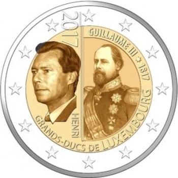 Luxemburg  2€ erikoisraha 2017 - 200 vuotta suurherttua Vilhelm III:n syntymästä
