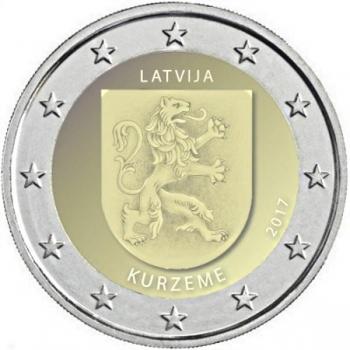 2 € юбилейная монета Латвия   2017 г. -Историческая область Курземе