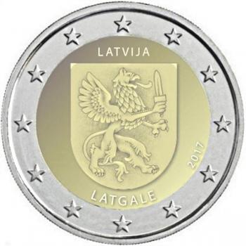 2 € юбилейная монета Латвия   2017 г. -Историческая область Латгале