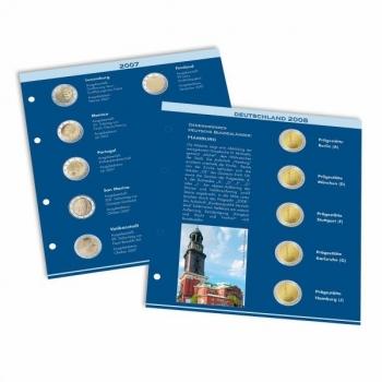Комплект NUMIS листов для 2€ юбилейных монет 2012-2013  года