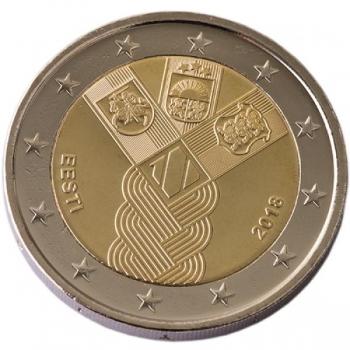 """Eesti 2018 a 2€ juubelimünt """"Balti riikide 100. aastapäev"""""""