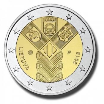Leedu 2018 a 2€ juubelimünt  - Balti riikide 100. aastapäev