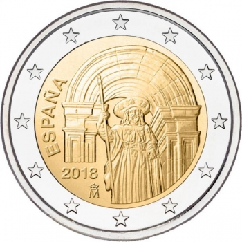 Spain 2€ commemorative coin 2019 - UNESCO's World Cultural and Natural Heritage Sites - Santiago