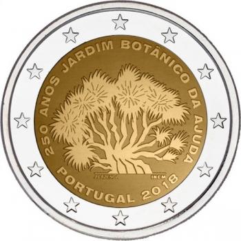"""Portugali  2018 a 2€ juubelimünt """"Ajuda Botaanikaaia 250 aastapäev"""""""