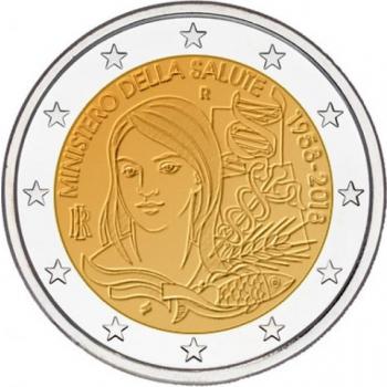 Itaalia 2018 a 2€ juubelimünt - Itaalia Tervishoiuministeeriumi asutamise 60. aastapäev